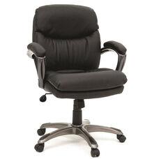 DuraPlush Faux Leather Managers Chair - Black