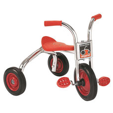 Silver Rider 10'' Trike with Spokeless Solid Rubber Wheels - Red