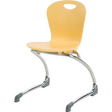ZUMA Series Cantilever Chair with 15''H Seat Height - 17.38''W x 17.75''D x 26.75''H