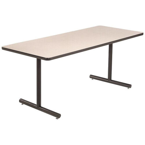High Pressure Laminate Top Conference/Classroom Table with 1 - 1/4'' Thick Particleboard Core and T - Legs - 30''W x 60''D x 29''H