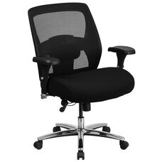 HERCULES Series 24/7 Intensive Use Big & Tall 500 lb. Rated Black Mesh Executive Swivel Chair with Ratchet Back