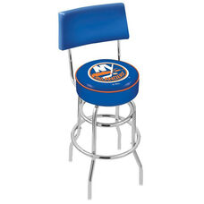 New York Islanders 25'' Chrome Finish Swivel Counter Height Stool with Double Ring Base