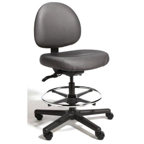 Triton Large Back Mid-Height Drafting Chair with 350 lb. Capacity - 4 Way Control