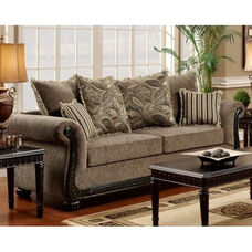 Lily Traditional Style Polyester Sofa - Dream Java