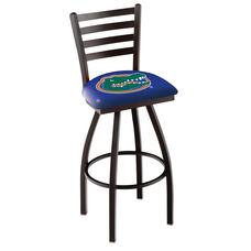 University of Florida 25'' Black Wrinkle Finish Swivel Counter Height Stool with Ladder Style Back