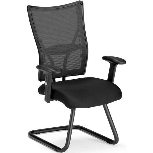 Talisto Executive Mid-Back Fabric and Mesh Guest Chair -Black