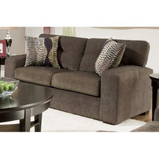 Rockland Contemporary Style Polyester Loveseat - Hematite Gray