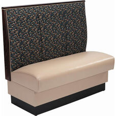 48''H Fully Upholstered 3-Channel Single Sided Booth - Grade 5 Vinyl