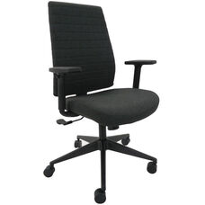 Frasso 25.8'' W x 19.5'' D x 41'' H Adjustable Height Mid Back Fabric Adjustable Arm Office Chair - Coal