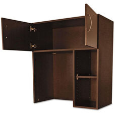 Alera Plus™ Hospitality Laminate Hutch with Two Doors and Adjustable Shelf - 36''W x 18''D x 40.25 - Cherry