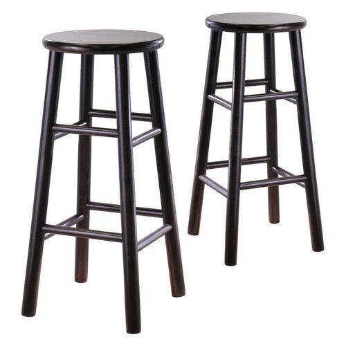29''H Bevel Seat Stools-Set of 2