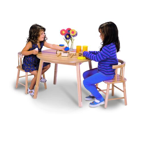 Round Children's Table and Bentwood Back Chair Set