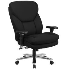 HERCULES Series 24/7 Intensive Use Big & Tall 400 lb. Rated Black Fabric Executive Swivel Chair with Lumbar Knob