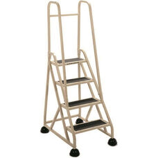 Stop Step 4 Step Ladder with Double Handrail - Beige