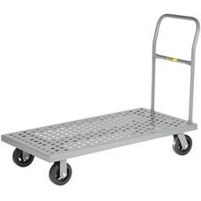 Platform Truck With Perforated Deck and Flush Edge