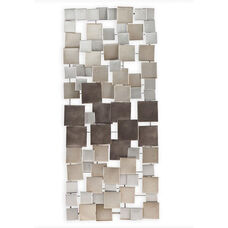 Wavson Contemporary Geometric 47''W x 21.25''H Wall Sculpture - Metallic Ombre