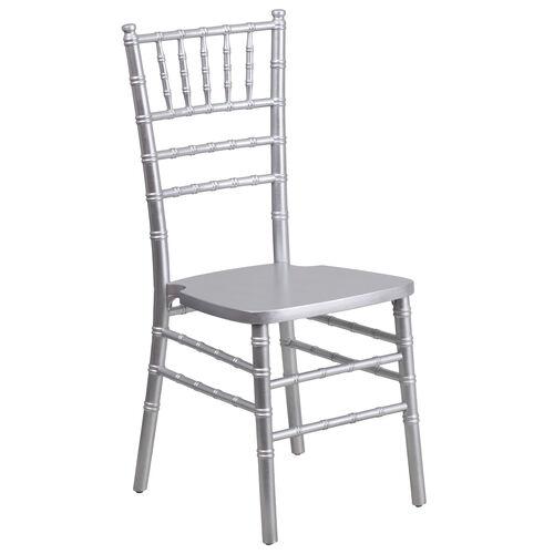 HERCULES Series Silver Wood Chiavari Chair