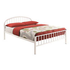 Cailyn Metal Slat Bed Bed with Curved Headboard - Full - White
