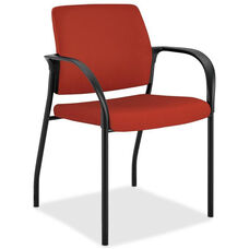 The HON Company Stacking Multipurpose Armchair with Glides - Poppy