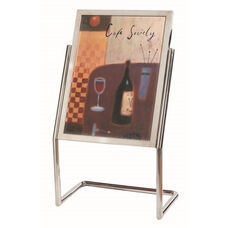 Menu and Poster Holder - Chrome Base and Frame