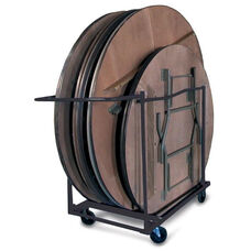 60''W x 33''D Round Table Dolly with Casters - Black