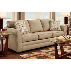 Essex Contemporary Style Polyester Sofa - Mover Straw