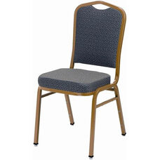 1800 Series Stacking Armless Hospitality Chair with Cathedral Back and 3'' Upholstered Box Seat