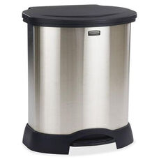 Rubbermaid Commercial Products Commercial Stainless Steel Step-On Container - 20.1''W X 23.6''D X 34.6''H