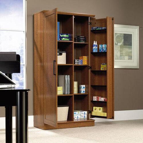 HomePlus 71.125''H Storage Cabinet with Swing-Out Door - Sienna Oak