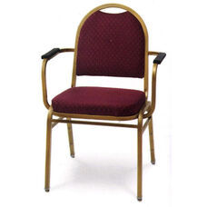 Prestige Heavy Duty Stack Chair with Arms - 24.5''W