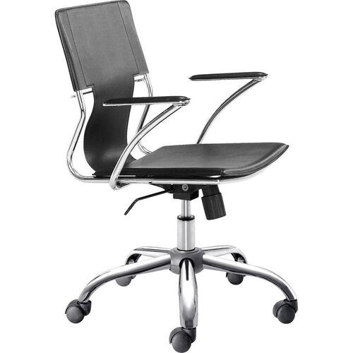 Trafico Mid-Back Chair in Black