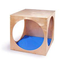 Birch Laminate 6 Sided Play House Cube - 2 Preschooler Capacity