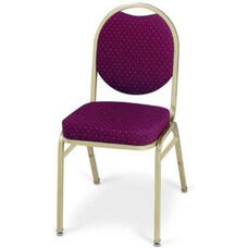 Prestige Banquet Stack Chair with Waterfall Style Seat - Oval Back