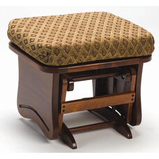 Maple Wood Ottoman with Solid Side Panel - Cherry Finish
