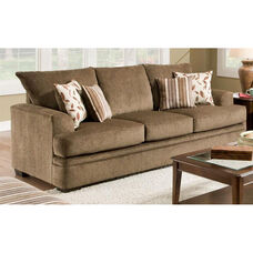 Calexico Transitional Style Polyester Sofa - Cornell Cocoa