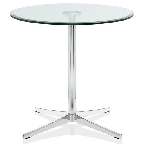 Axium 30'' Round Tempered Glass Table - 26''H