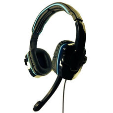 iHear Durable Padded Headset with Built-In Rotating Microphone and 3.5mm TRS Jack