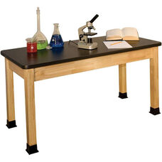 Rectangle Shaped Chemical Resistant Science Table - 24''W x 72''D