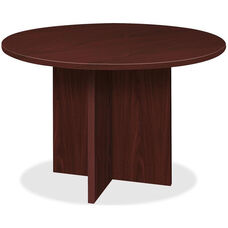 Basyx 48'' Round Conference Table with X-Base - Mahogany
