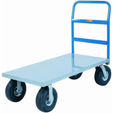 Cushion-Load Platform Truck With Pneumatic Wheels - 24''W x 48''D