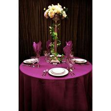 60'' x 60'' Renaissance Stain Resistant Series Square Tablecloth - Plum