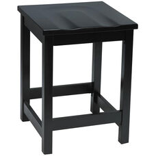 Eastwood Backless Counter Height Stool with Contoured Wood Seat - Black