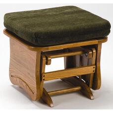 Oak Wood 15.5''H Ottoman with Solid Side Panel - Light Oak Finish