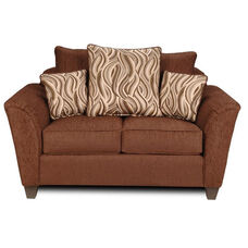 Zoey Transitional Style Polyester Loveseat - Delray Fudge