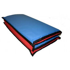 Vinyl 1'' Thick Enduro Foldable Rest Mat - Red and Blue