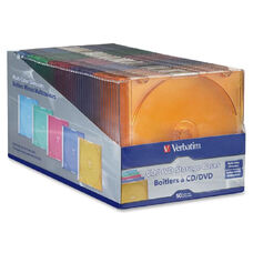 Verbatim Cd/ Dvd Color Slim Cases - Pack Of 50