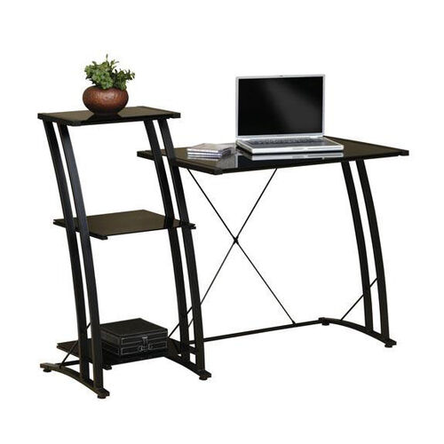 Select Collection 47.625''W Tiered Laptop Desk - Black