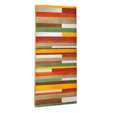 Swice Eclectic Color Block 23.75''W x 55''H Wall Art with Mirror Slices - Multi-Color