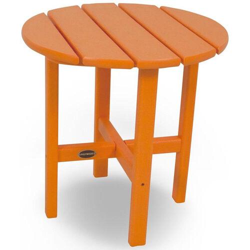 POLYWOOD® Round 18'' Side Table - Vibrant Tangerine