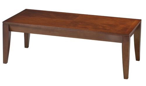 Diamond 48'' W x 24'' D x 16.25'' H Coffee Table - Cherry Veneer Top with Bourbon Cherry Base